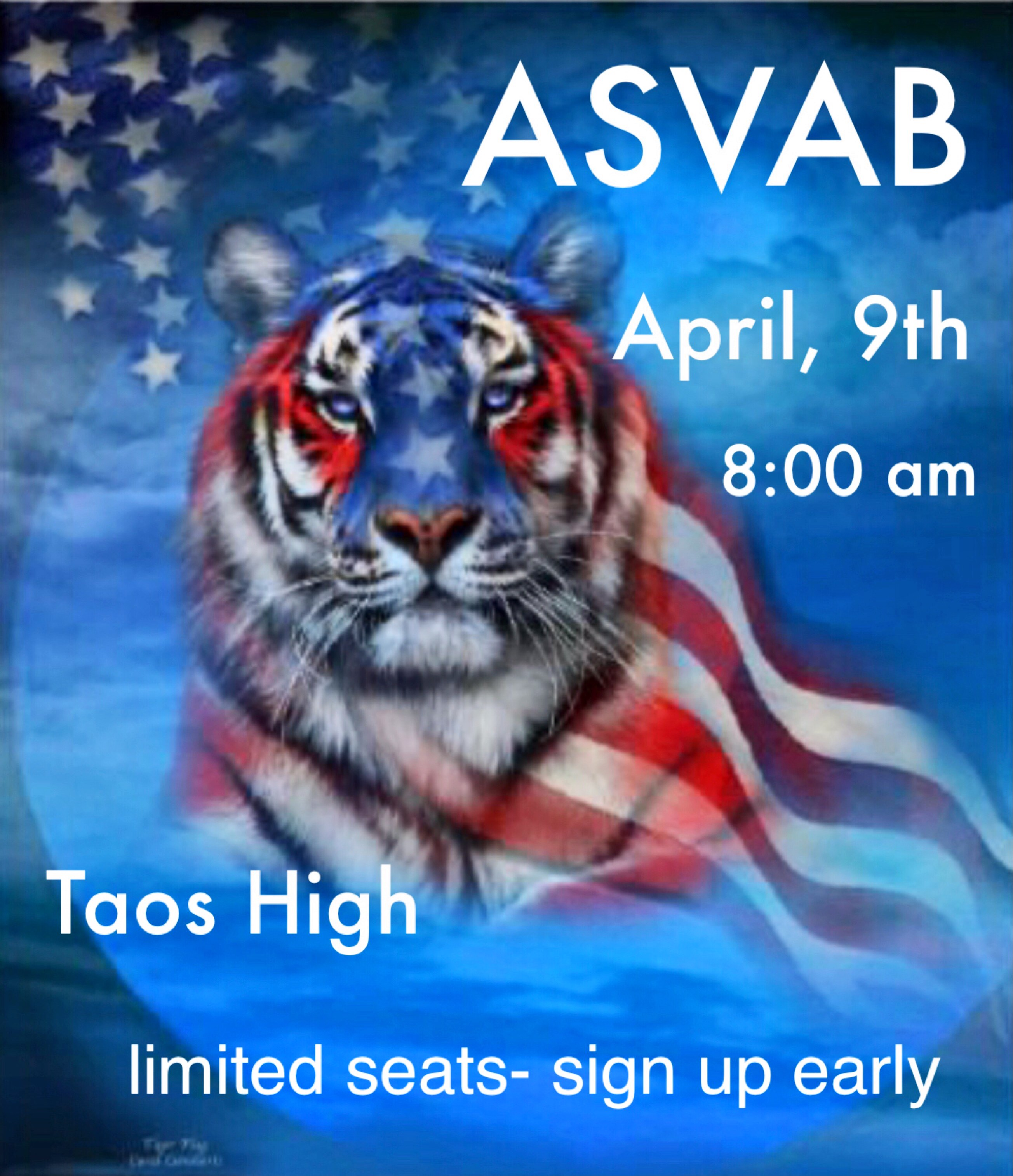Sign up for the ASVAB on April 9th.